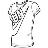 NIKE Cruiser V-NK SS Run Swoosh Women Size M [588563-100] - White - Kaos Wanita